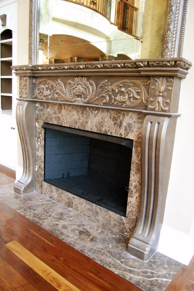 MT1004 Fireplace Mantel With OMT3 Over